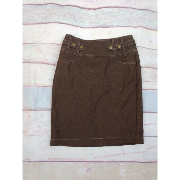 new york clothing company Dresses & Skirts - Brown pencil skirt size 6